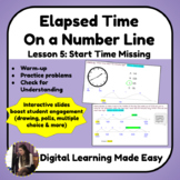 Lesson 5: Elapsed Time on a Number Line: Start Time Missing [Pear Deck]