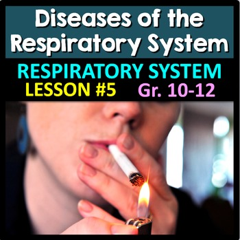 Respiratory System Lesson 5 - PowerPoint, Notes, Quiz & Crossword {EDITABLE}