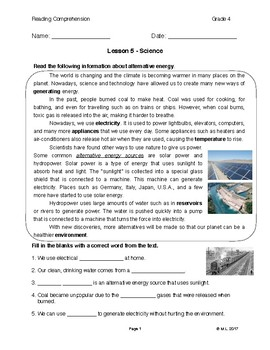 Reading G4-5 - Lesson 5: Science