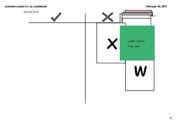 Lesson 5 v,w,x
