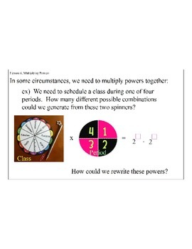 Lesson 6, Multiplying Powers
