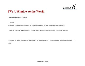 Lesson 6 - TV Window to the World