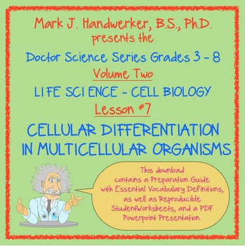 Lesson 7 - CELLULAR DIFFERENTIATION IN MULTICELLULAR ORGANISMS