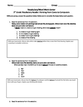 FSA and PARCC Test Prep - Lesson 7 - Caves to Computers - Journeys Readers