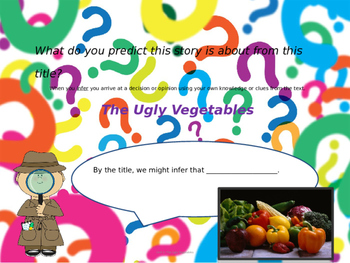 Lesson 7- Journey- They Ugly Vegetable story/picture walk introduction
