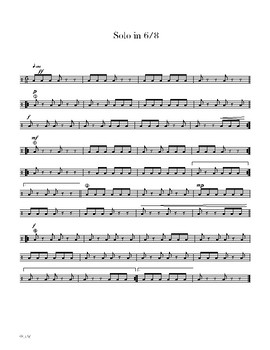 Lesson 7 - Snare Drum Mastery 101 - 9-13 Double Stroke Rolls, 6/8 Time Signature