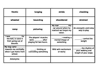 Lesson 7 Vocabulary