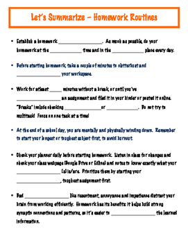 Lesson 8 - Guided Notes for Homework Routines