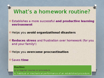 Lesson 8 - Homework Routines