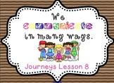 Lesson 8: Houghton Mifflin Journeys 3rd grade for SMART Board