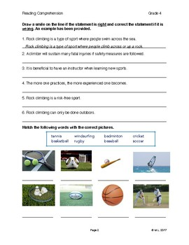 Reading G4-5 - Lesson 8: Sports