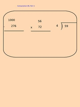 Lesson 80-1 Multiplication of 3-Digit By 2-Digit Numbers
