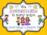 Lesson 9: Houghton Mifflin Journeys 3rd grade for SMART Board