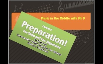 S-Cubed!  Lesson 9- PREPARATION!  Successful Sight Singing for Middle School