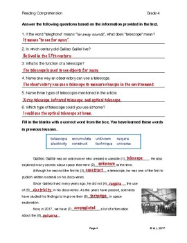 Lesson 9 - Space (Grade 4)