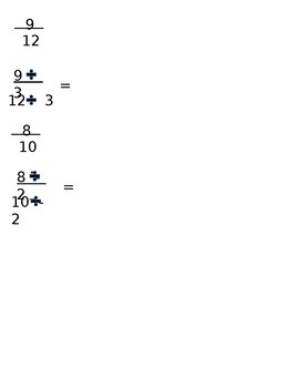 Lesson 96 Simplifying Fractions