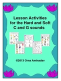 Lesson Activities for the Hard and Soft C and G sounds