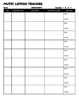 Music Lesson Tracker / Assignment Tracker