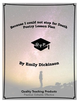 Because I could not stop for Death Lesson Plan, Worksheets, Key, PPTs