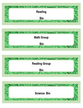 Lesson Bin Labels