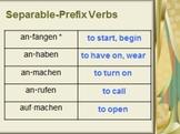 Lesson Bundle: Separable Prefix Verbs