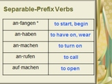 Lesson Bundle: Separable Prefix Verbs