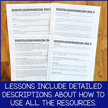 Lesson Bundle for All Fifth-Grade RI Standards (RI.5.1-RI.5.10)