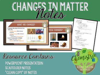 Lesson: Changes in Matter