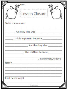 FREE Exit Slip for Any Subject