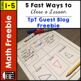 Lesson Closure Freebie - TpT Guest Blog