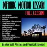 Lesson: Defining Motion
