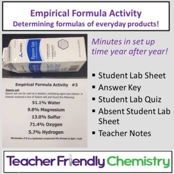 Lesson Design: Empirical Formula Task Sheet Activity and Lecture WS