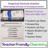 Lesson Design: Empirical Formula Task Sheet Activity and L