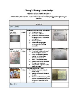 Lesson Design for Core Reading Skills