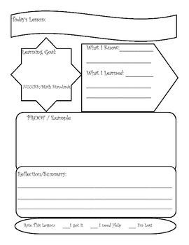 Lesson Graphic Organizer
