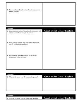 Day 014_Alexander the Great Debate - Lesson Handout