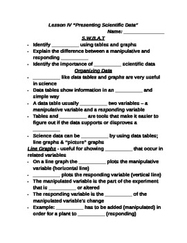 "Lesson IV Student PowerPoint Note Guide ""Presenting Scientific Data"""
