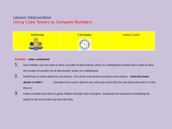 Intervention Lessons for Number Concepts
