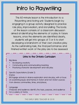 Introduction to Playwriting - L'écriture d'une pièce de théâtre