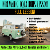 Lesson: Kinematic Equations