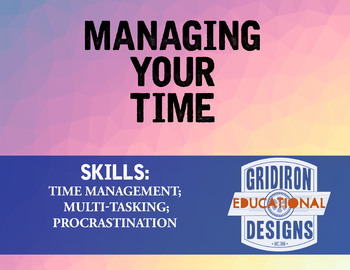 Lesson: Managing Your Time (Four Lessons)