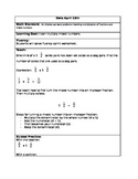 Lesson: Multiplying Mixed Numbers and Fractions