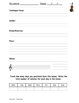 Lesson Notes Sheets