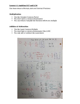 Lesson (Notes) on Adding & Multiplying Fractions