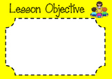 Lesson Objective Poster