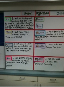 Lesson Objectives Board Printables