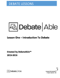 Lesson One - Introduction to Debate