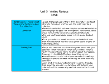Lesson Outlines!  Writing Units of Study:  Grade 1, Unit 3