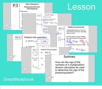 Lesson P.3 - Multiplicaiton/Division with Negatives