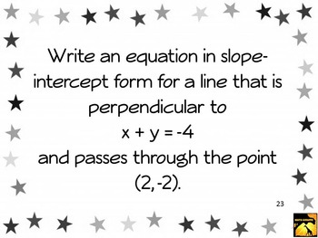Lesson Pack: Slopes of Parallel and Perpendicular Lines